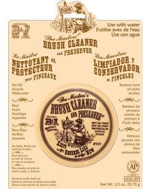 """General """"The Masters"""" Brush Cleaner and Preserver Card 2.5 oz"""