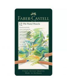 Faber-Castell Pitt Pastel Pencil, tin of 12