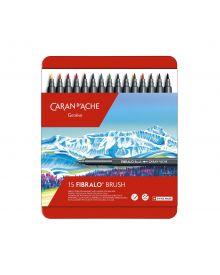 Caran d'Ache Fibralo Brush Marker Tin Set of 15