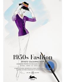 1950'S FASHION: Artists' Colouring Books - Paperback