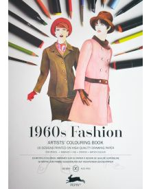1960'S FASHION: Artists' Colouring Books - Paperback