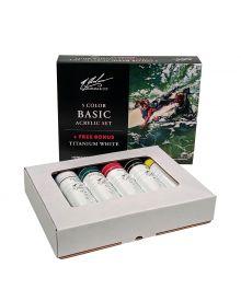 M. Graham Acrylic Basic Set 5-Colour + Bonus 59ml/2oz