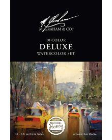 M Graham Watercolour 10 Colour Deluxe Set 15ml