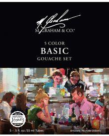 M. Graham Artists Gouache Basic Paint 15 ml Set