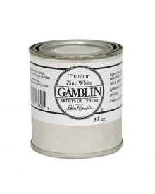 Gamblin Artitst's Oil Color - Titanium Zinc White, 250 ml (8oz)