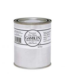 Gamblin Artitst's Oil Color - Titanium Zinc White, 500 ml (16oz)