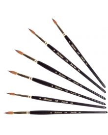 Jack Richeson 6228 Series Short Handle Sable Round Brushes