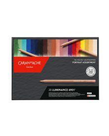 Caran d'Ache Luminance 6901 Pencil NEW Portrait Set-20 Colours