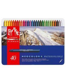 Caran d'Ache Neocolor II Water-Soluble Pastel Set of 40
