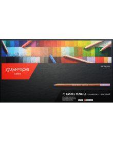 Caran d'Ache Pastel Pencil Cardboard Box Set of 76+2