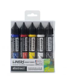 Sennelier Abstract 3D Liner Discovery Primary Colour Set of 5