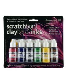 Ampersand Scratchbord Ink Set of 6-1/2oz bottles