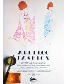 ART DECO FASHION: Artists' Colouring Books - Paperback