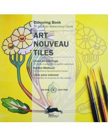 ART NOUVEAU SQUARE TILE: Artists' Colouring Paperback Book