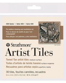 Strathmore 400 Series Toned Artist Tiles, Tan Toned – 30/Sht. 4″ x 4″