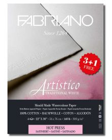 """Fabriano Artistico 22""""x30"""", 140lbs Traditional White HP """"Buy 3 Get 1 Free"""""""
