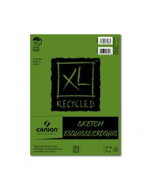 """Canson XL Recycled (Fold Over) Sketch Pad 100 Sheets, 18"""" x 24"""""""