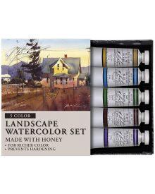 M Graham 5 Colour Landscape Watercolour Set