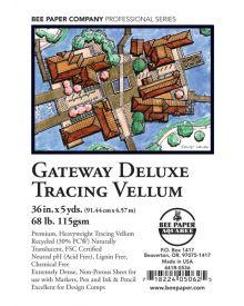 Bee Paper Gateway De Luxe Tracing Vellum Roll - 36 x 5 yd.