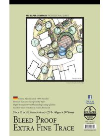 Bee Extra Fine Tracing Paper Pad 9 x 12 Inch