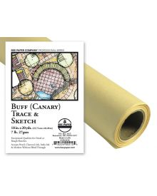 Bee Paper Buff (Canary) Sketch Roll -12-in x 50-yd.