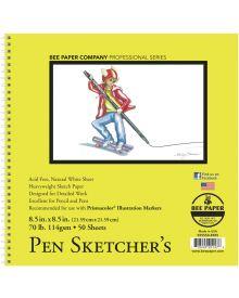 Bee Paper Pen Sketcher's 50 Sheets, 70 lb Pad - 8.5 x 8.5 inch