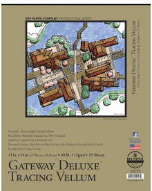 Bee Paper Gateway Deluxe Tracing Vellum 68 lb. Pad ,11 x 14 Inches