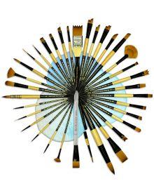 Dynasty Black Gold Short Handle Single Brushes