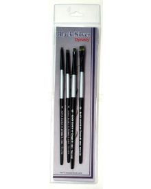 Dynasty Black Silver Brush SH Shader #5-4 Piece Set