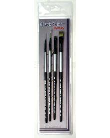 Dynasty Black Silver Brush SH #6-4 Piece Set