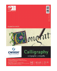 """Canson Calligraphy Parchment Paper Pad 8.5"""" x 11"""" Assorted"""