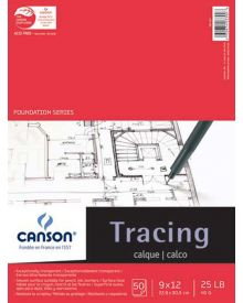 """Canson Tracing Foundation Series - 9"""" x 12"""" Pad"""