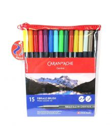 Caran d'Ache Fibralo Fibre-Tipped Brush Pens set of 15