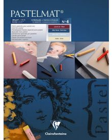 Clairefontaine Pastelmat 12 Sheet Pad No4 - 24 X 30 cm - 9.5 X 12 Inches