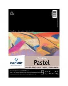 "Canson MI-TEINTES Pastel 98 lb. Pad - Assorted Colours, 9"" x 12"""