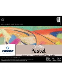 "Canson MI-TEINTES Pastel 98 lb Pad - Assorted Colours 12"" x 16"""