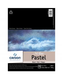 Canson MI-TEINTES Pastel 98 lb. Pad - Black, 9 x 12 Inch
