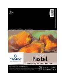 Canson MI-TEINTES Pastel 98 lb. Pad - Earth Tones, 9 x 12 Inch