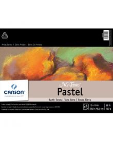 Canson MI-TEINTES Pastel 98 lb. Pad - Earth Tones,12 x 16 Inch