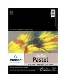 Canson MI-TEINTES Pastel 98 lb. Pad - Gray Tones, 9 x 12 Inch