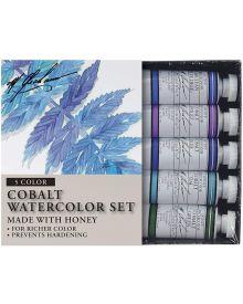M. Graham Cobalt Mix 5-Colour Watercolour Paint Set