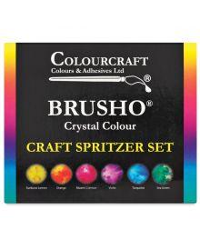 Brusho® Crystal 6 Colours & Spritzer Set