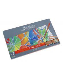 Cretacolor Pencil Fine Art Pastel Pencil Tin Set, 72