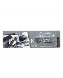 Cretacolor Charcoal Pencil Pocket Tin Set of 8