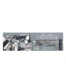 Cretacolor Nero Deep Black Pocket Tin Set of 7