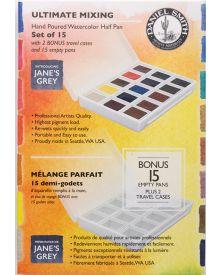 Daniel Smith Ultimate Mixing Watercolour Half Pan Set of 15+Bonus 15 Empty Half Pans
