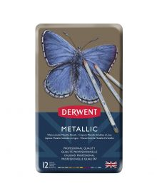 Derwent Tinted Charcoal Pencil Set - Assorted Colours, Tin Box, Set of 24