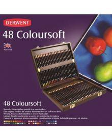 Derwent Coloursoft Pencil Wood Box Set of 48