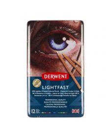 Derwent Lightfast Coloured Pencil Sets (12) Tin