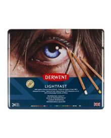 Derwent Lightfast Coloured Pencil Sets (24) Tin